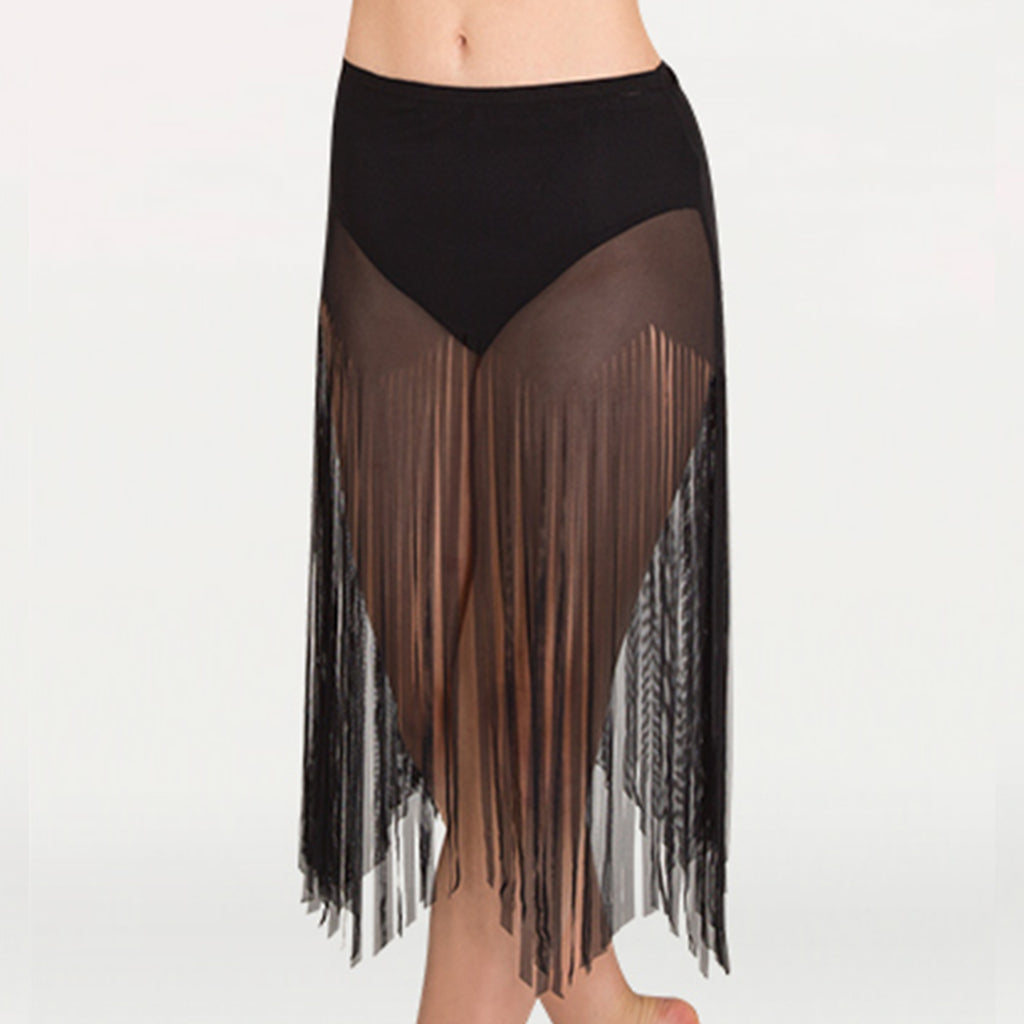Body Wrappers BW9811 Adult Sheer Mesh Fringe Skirt