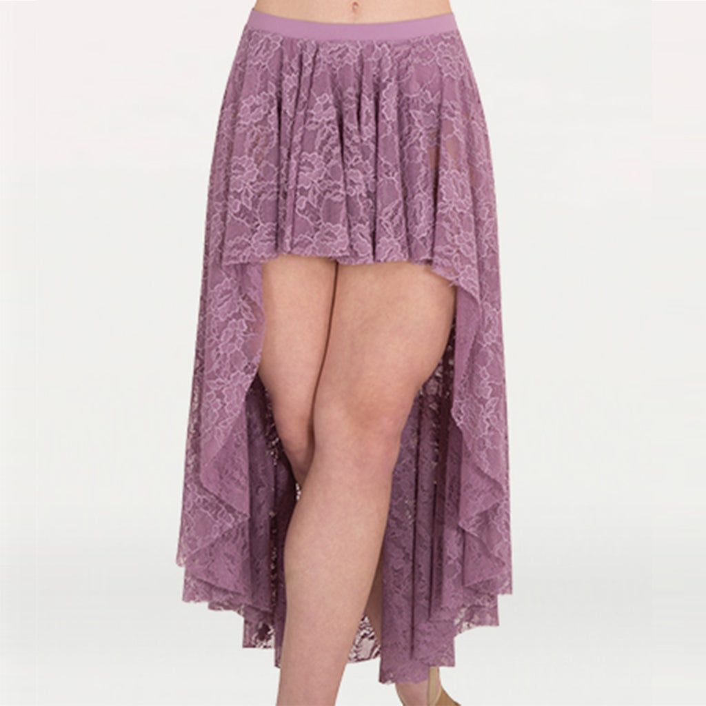 Body Wrappers LC9112 Adult High-Low Lace Skirt