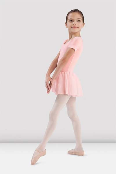 Bloch CL5342 Childrens Tiffany Short Sleeve Leotard with Chiffon Skirt
