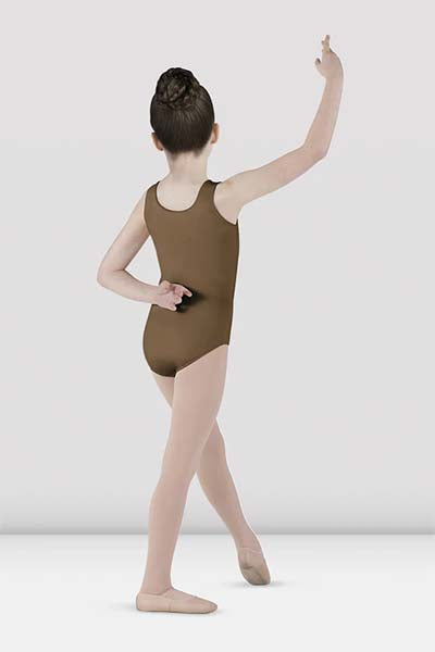 Bloch CL5605 Childs Essential Tank Leotard Almond color back side swatch