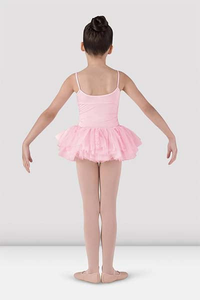 Bloch CL7207 Girls Milani Tutu Dress pink back side