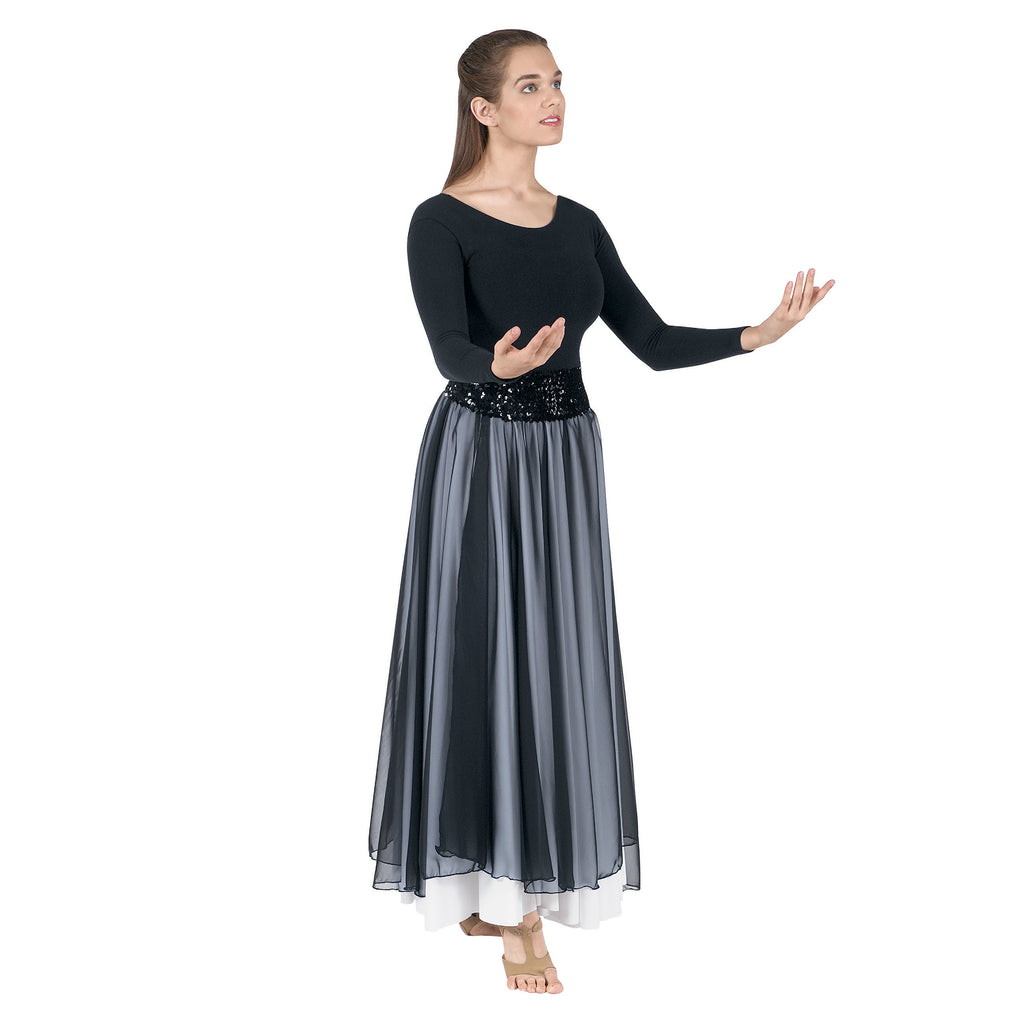 Eurotard 39746p Plus Size Chiffon Single Overlay Skirt