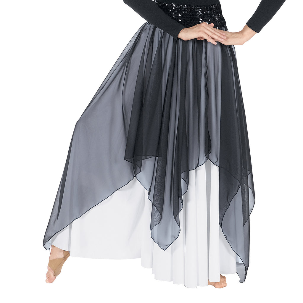 Eurotard 39768 Adult Chiffon Single Layer Handkerchief Skirt