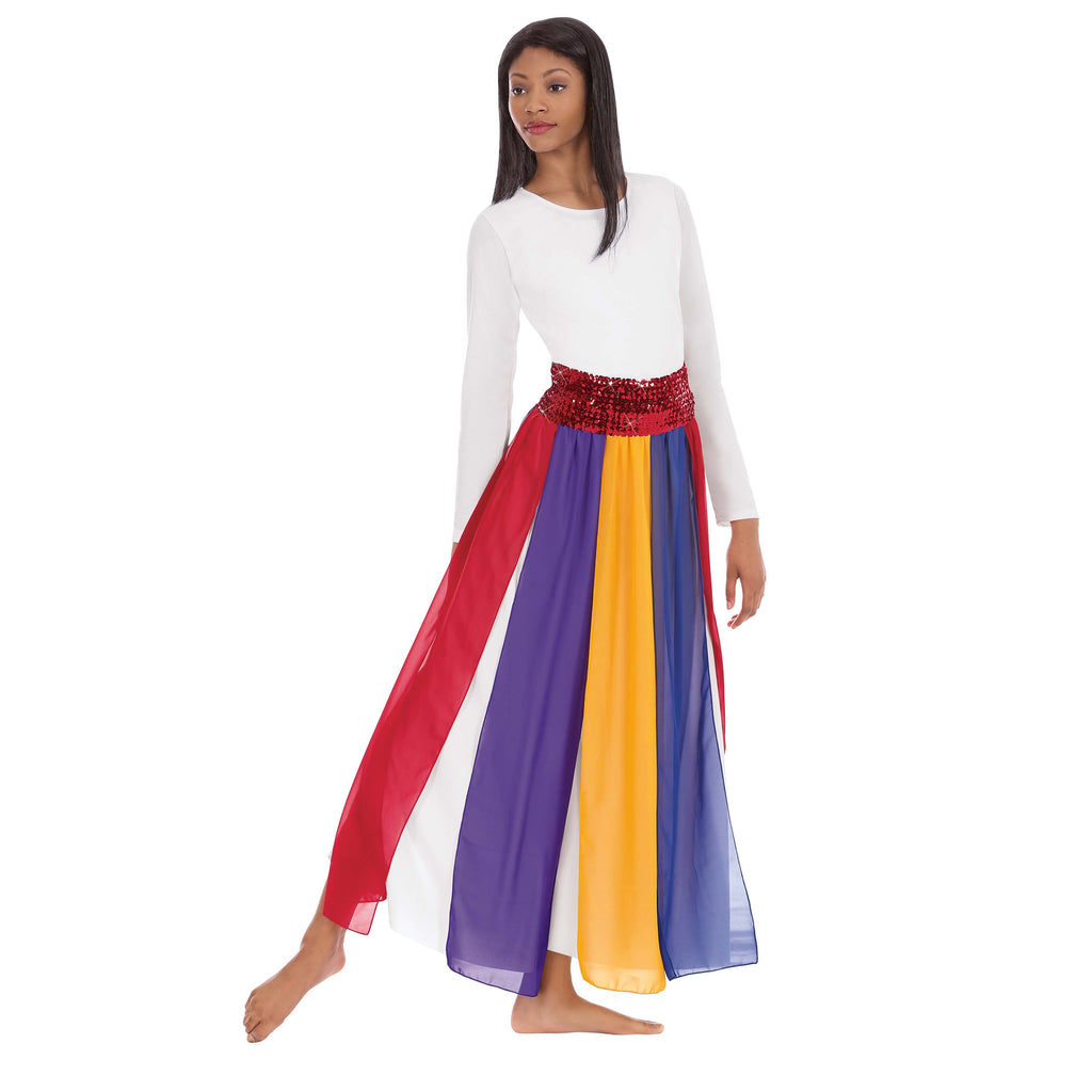 Eurotard 39808 Adult Multi-Color Streamer Skirt