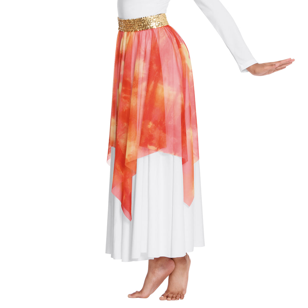 Eurotard 84768 Adult Ignited Glory Versatile Praise Skirt/Overlay