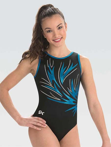 gk elite 10501 electric night gymnastics leotard center