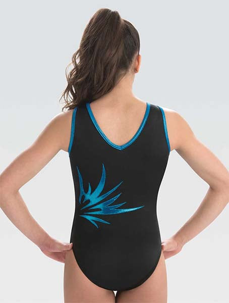 gk elite 10501 electric night gymnastics leotard back