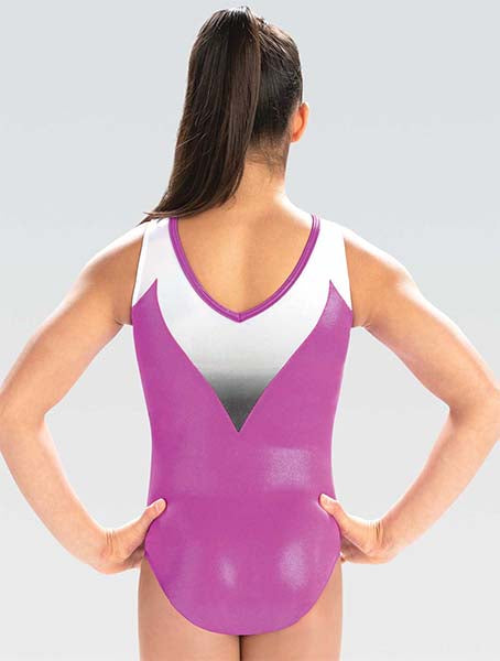 gk elite 10515 gk rising wave tank leotard back
