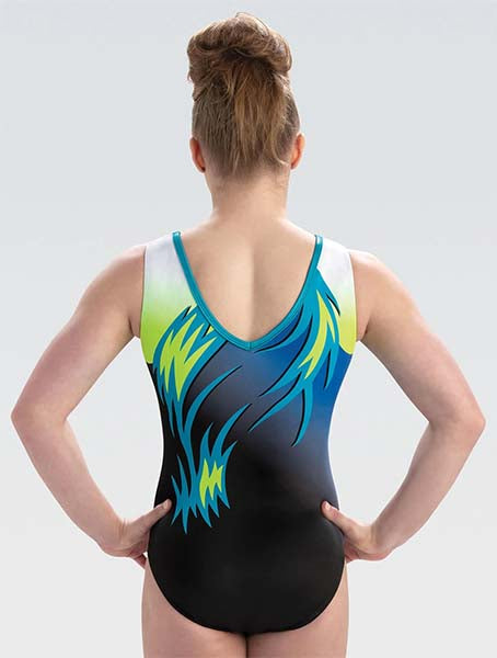 gk elite 10522 gk fierce waves tank leotard back