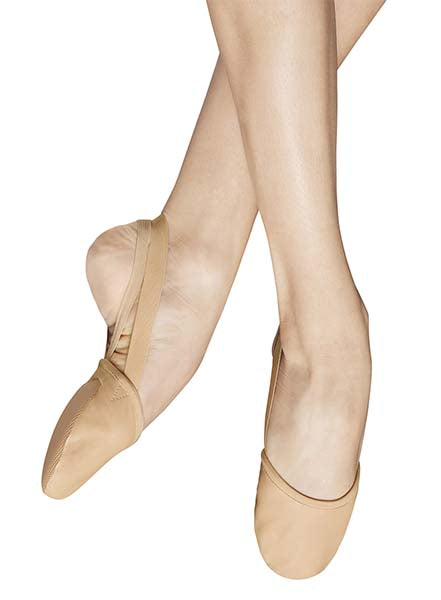 Bloch S0607L Revolve Ladies Half Sole Leather Lyrical Shoes Sand color swatch