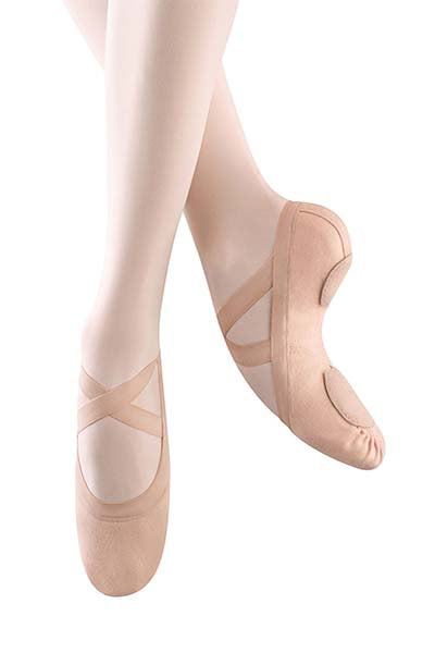 Bloch S0625L Ladies Pink Synchrony Canvas Ballet Shoe