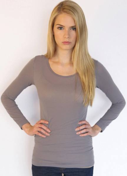 AMB 3010 Sheer Long Sleeve Warm-Up Top Steel Gray