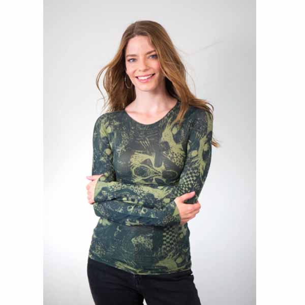 amb designs 6010-179 litography raw edge top moss