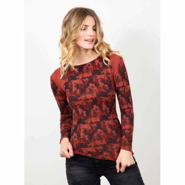 amb designs 6010-191 autumn grunge raw edge top autumn maple