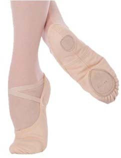 body wrappers 246 womens/mens angelo luzio stretch canvas ballet slipper peach(pink)