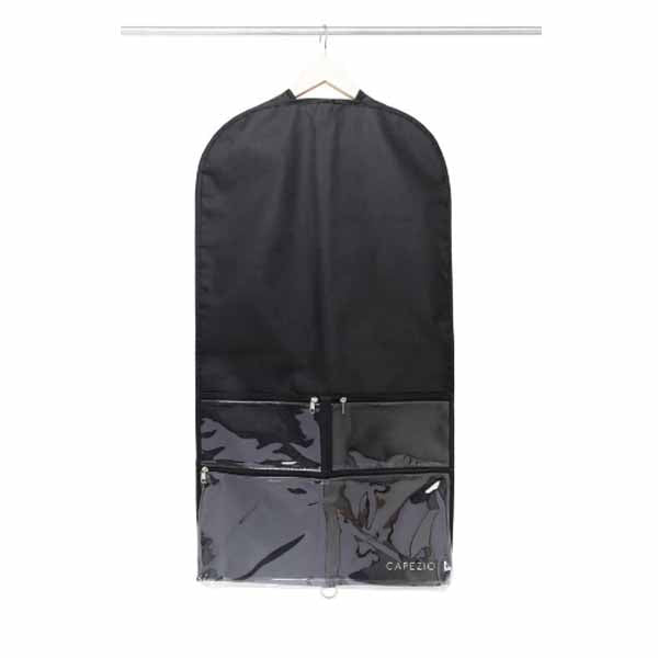 capezio b217 clear garment bag black