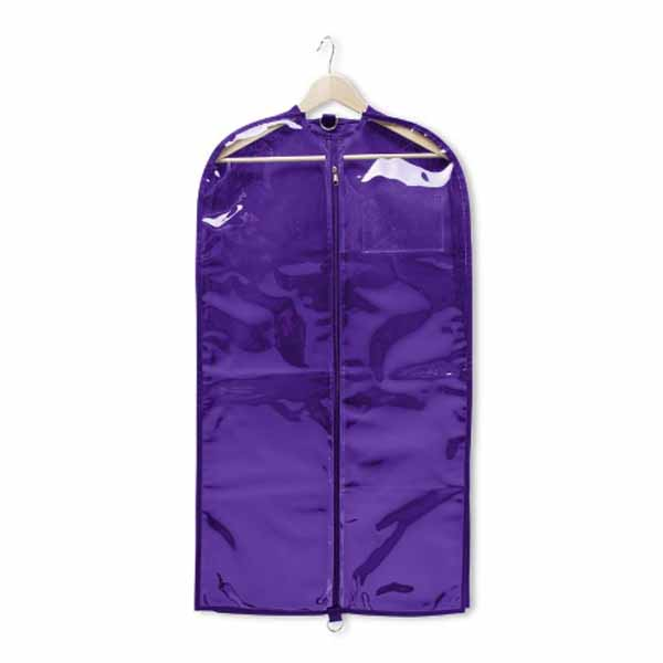 capezio b217 clear garment bag electric purple