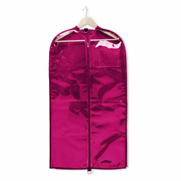 capezio b217 clear garment bag hot pink
