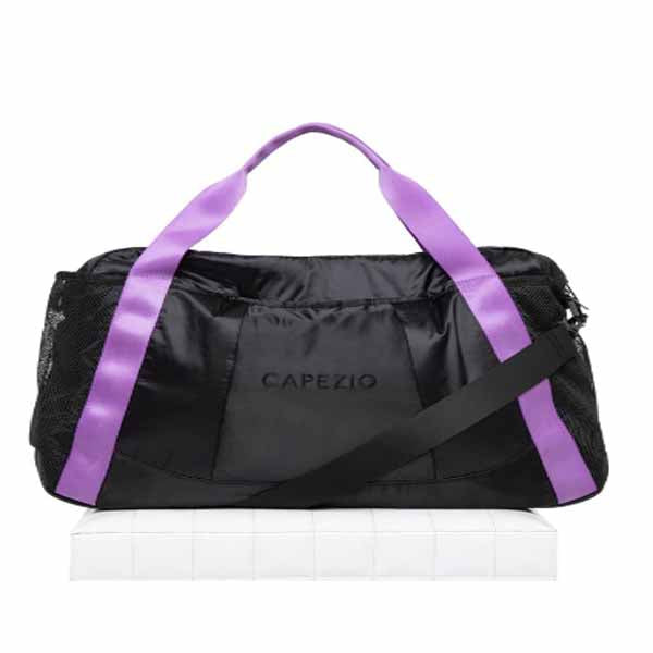 capezio b230 motivational duffle black/purple