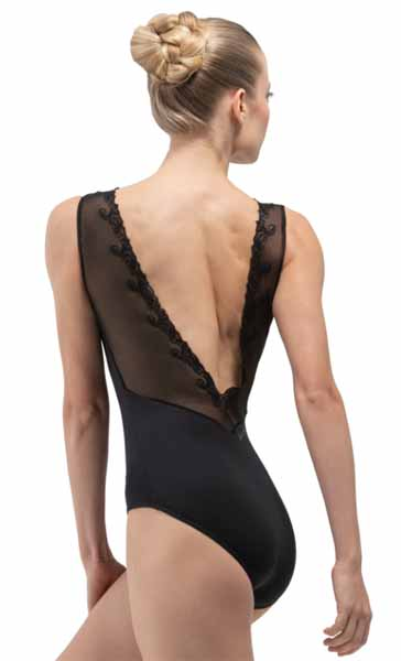 ballet rosa novella fashion leotard noir back