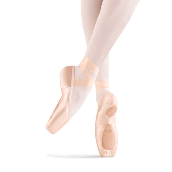 bloch s0172l eurostretch pointe shoe bottom side view