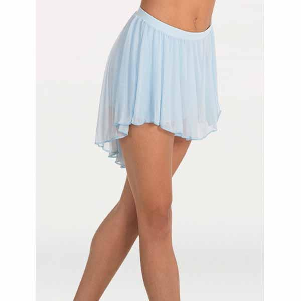 body wrappers bw9108 womens high-low chiffon dance skirt lt. blue
