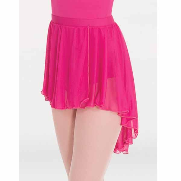 body wrappers bw9108 womens high-low chiffon dance skirt mulberry