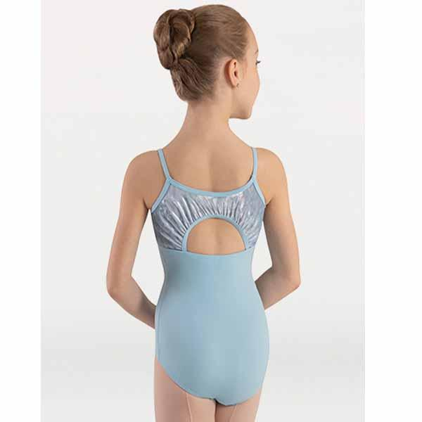 body wrappers 2417 girls frosty velvet camisole leotard back