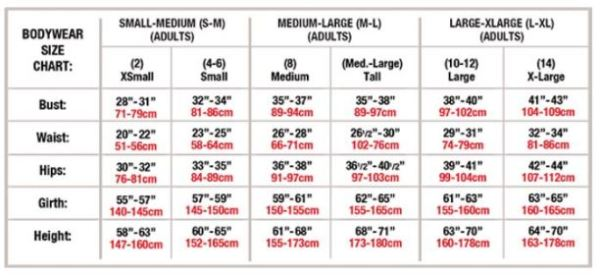 body wrappers p1270 womens beaucoup long sleeve leotard adult sizing chart