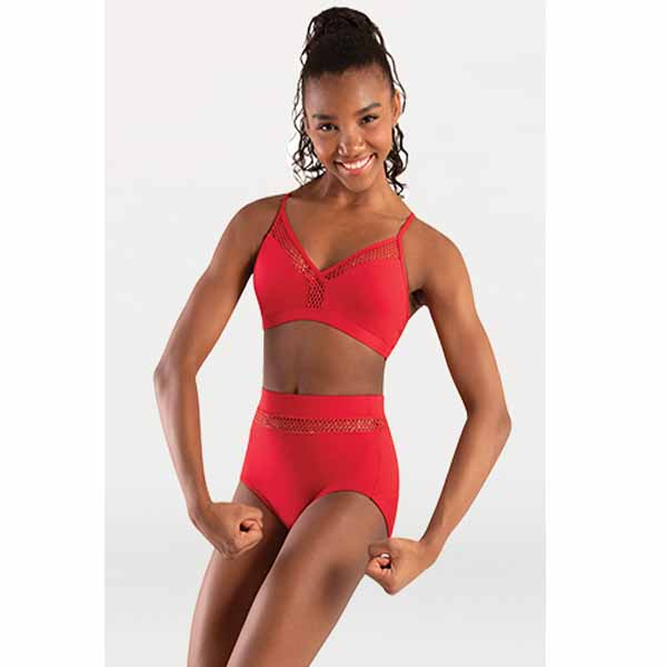 body wrappers p1162 womens tiler peck open mesh camisole bra scarlet
