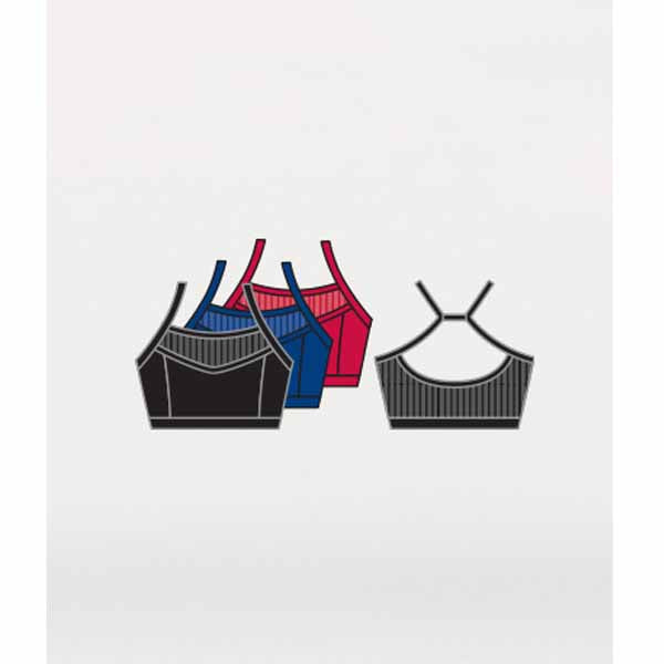 body wrappers p1234 girls tiler peck fine mesh stripe camisole bra black