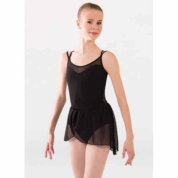 body wrappers p1241 girls tiler peck double strap leotard black
