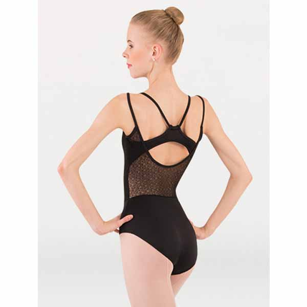 body wrappers p1241 womens tiler peck double strap leotard black back