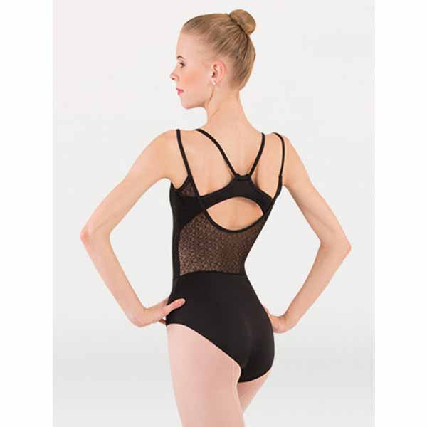 body wrappers p1241 girls tiler peck double strap leotard black back