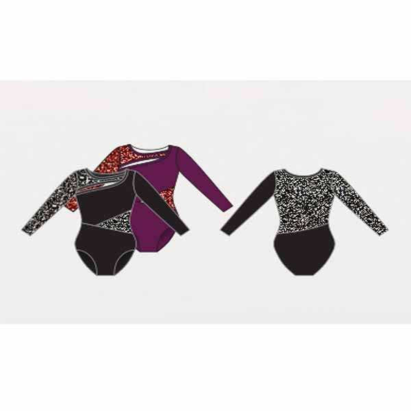 body wrappers p1242 womens tiler peck long sleeve leotard color chart