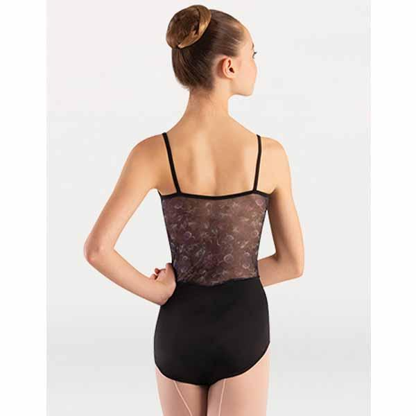 body wrappers p1301 girls tiler peck virginia blooms camisole leotard black back