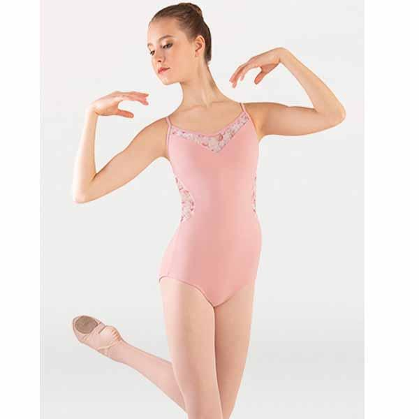 body wrappers p1301 girls tiler peck virginia blooms camisole leotard dusty rose