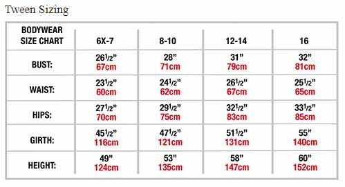body wrappers p1242 girls tiler peck long sleeve leotard tween sizing chart
