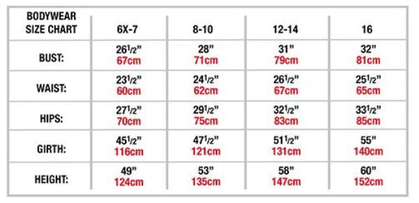 body wrappers p1270 girls beaucoup long sleeve leotard tween sizing chart
