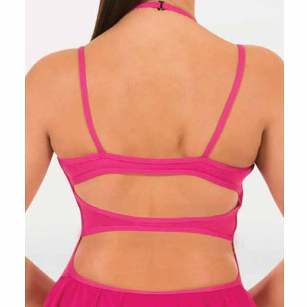 body wrappers bwp404 womens double strap camisole dance dress back