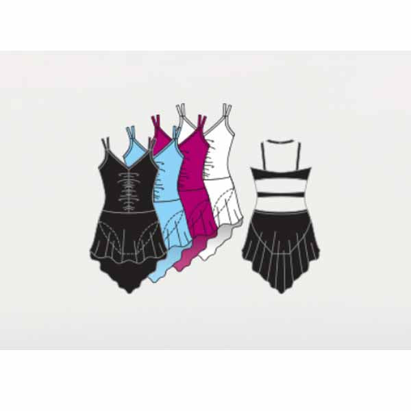 body wrappers bwp304 girls double strap camisole dance dress color chart