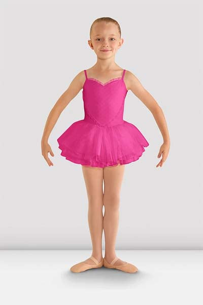 cl8168 Girls Valentine Tutu Leotard hot pink