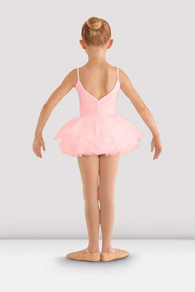 cl8168 Girls Valentine Tutu Leotard pink back