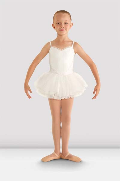 cl8168 Girls Valentine Tutu Leotard white