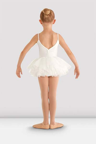 cl8168 Girls Valentine Tutu Leotard white back