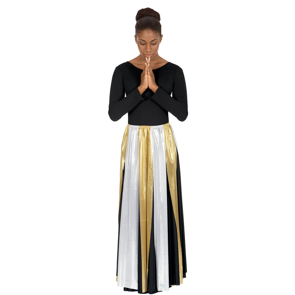 Eurotard 14808 Adult Metallic Streamer Skirt and Overlay