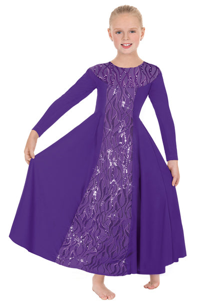 eurotard 82119c girls passion of faith dress purple