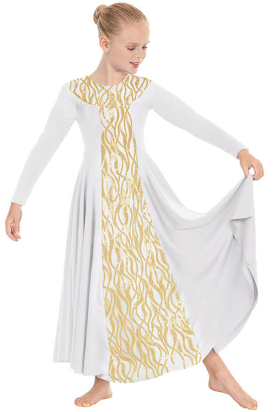 eurotard 82119c girls passion of faith dress white