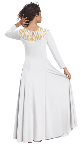 eurotard 82119 passion of faith dress back white