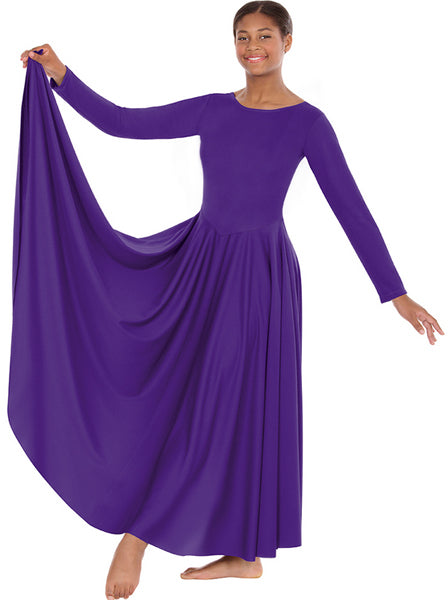 eurotard 13524 womens simplicity praise dress purple